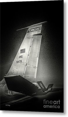 Kc_135 In Flight Refueling Tanker Metal Print