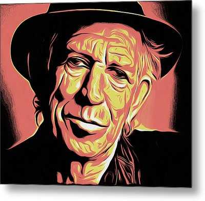 Keith Richards Metal Print by Galeria Zullian  Trompiz