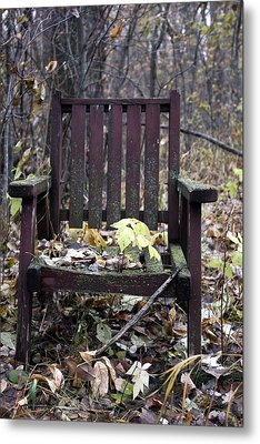 Metal Print featuring the photograph Keven's Chair by Pat Purdy