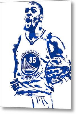 Kevin Durant Golden State Warriors Pixel Art 4 Metal Print