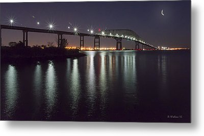 Key Bridge At Night Metal Print by Brian Wallace