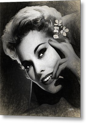 Kim Novak Draw Metal Print by Quim Abella