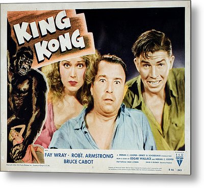King Kong, Fay Wray, Robert Armstrong Metal Print by Everett