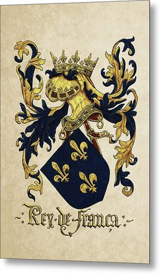 King Of France Coat Of Arms - Livro Do Armeiro-mor  Metal Print by Serge Averbukh