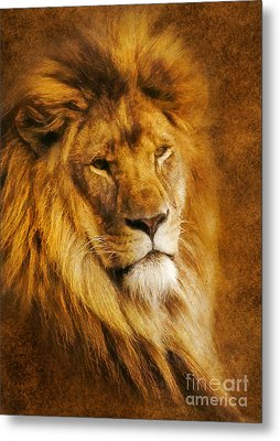 Metal Print featuring the digital art King Of The Beasts by Ian Mitchell