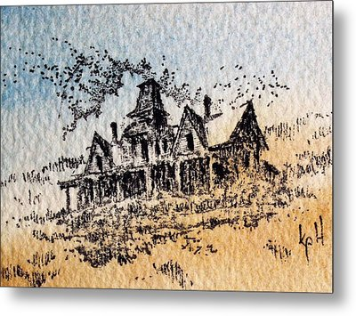 Knippenberg Mansion Glendale Ghost Town Montana Metal Print by Kevin Heaney