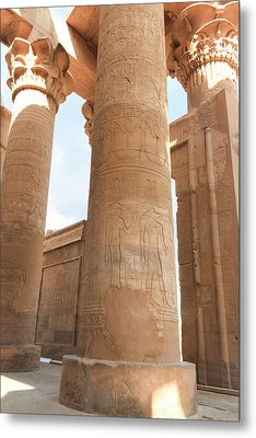 Metal Print featuring the photograph Kom Ombo Temple by Silvia Bruno