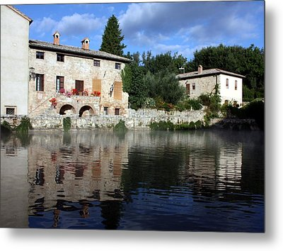 Metal Print featuring the photograph La Terme by Pat Purdy