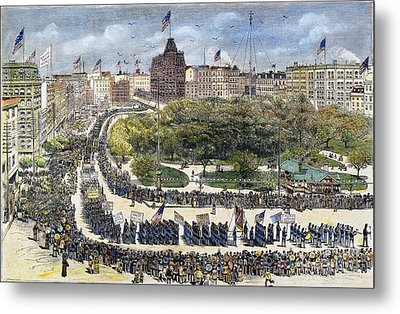 Labor Day Parade, 1882 Metal Print by Granger