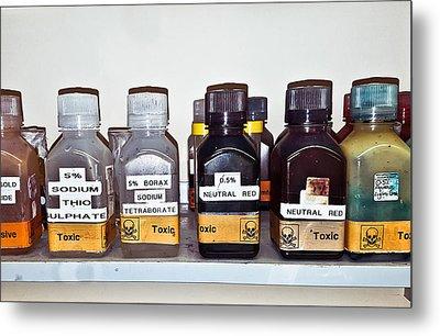 Laboratory Chemicals Metal Print