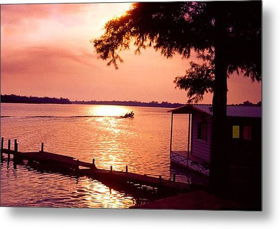 Lake Chicot Sunset Metal Print by John Foote