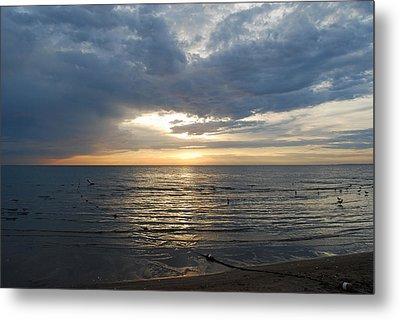 Lake Erie Sunrise Metal Print by Peter  McIntosh