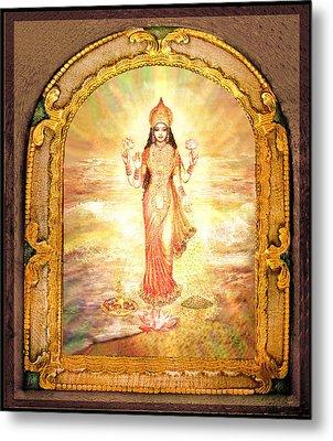 Lakshmis Birth From The Milk Ocean Metal Print