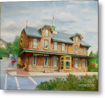 Lambertville Inn Metal Print by Oz Freedgood