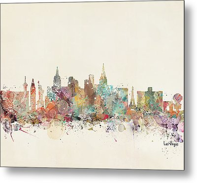 Las Vegas Skyline Metal Print by Bri B
