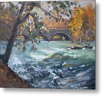 Late Afternoon By Niagara River Metal Print