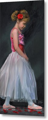 Metal Print featuring the painting Lauren Grace by Doug Kreuger
