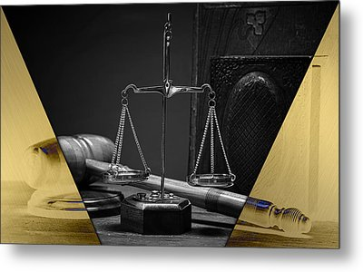 Law Office And Judge Collection Metal Print by Marvin Blaine