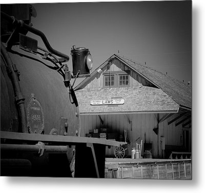 Laws Depot And Locomotive 9 Metal Print by Troy Montemayor
