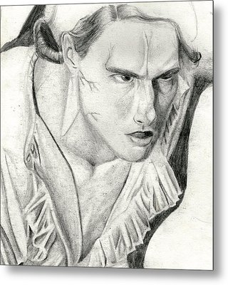 Metal Print featuring the drawing Lestat by Michael McKenzie