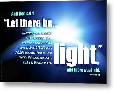Metal Print featuring the digital art Let There Be Light by Shevon Johnson