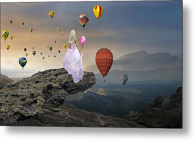 Metal Print featuring the mixed media Letting Go by Marvin Blaine