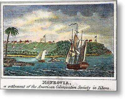 Liberia: Freed Slaves 1832 Metal Print by Granger