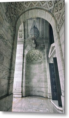 Metal Print featuring the photograph Library Portico by Jessica Jenney