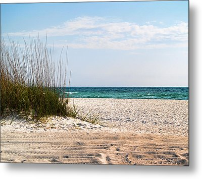 Metal Print featuring the photograph Lido Beach by Athala Carole Bruckner