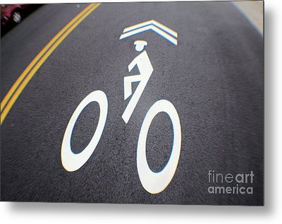 Life In The Bike Lane Metal Print