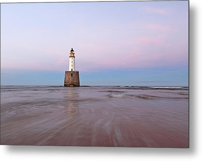 Metal Print featuring the photograph Lighthouse Sunset by Grant Glendinning