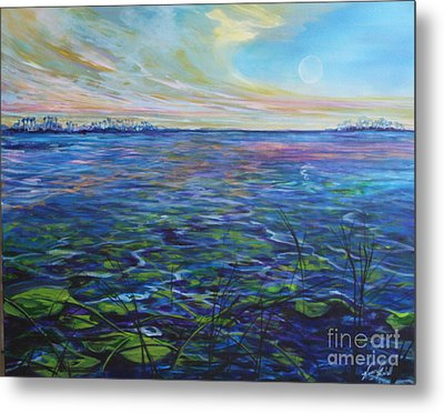 Lilly Pads  Metal Print by Michele Hollister - for Nancy Asbell