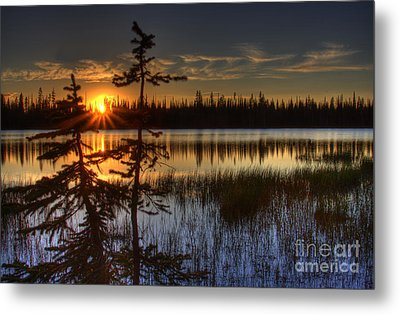 Lily Lake Sunset 1 Metal Print
