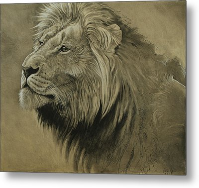 Metal Print featuring the digital art Lion Portrait by Aaron Blaise