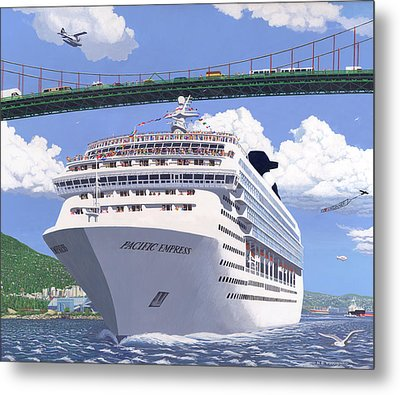 Lions Gate Bon Voyage Metal Print by Neil Woodward