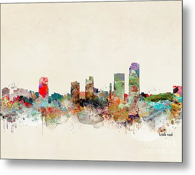 Metal Print featuring the painting Little Rock Arkansas by Bri B