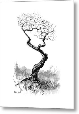 Metal Print featuring the painting Little Zen Tree 1820 by Sean Seal