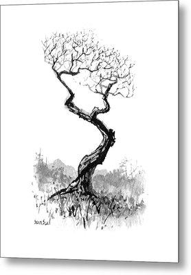 Little Zen Tree 1820 Metal Print