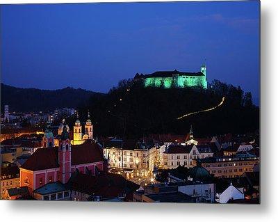 Ljubljana Castle Metal Print