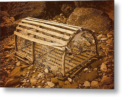 Lobster Trap Metal Print by WB Johnston