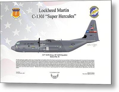 Lockheed Martin C-130j-30 Super Hercules Metal Print