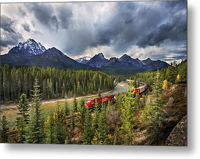 Metal Print featuring the photograph Long Train Running by John Poon