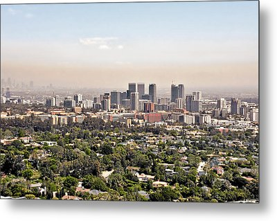 Los Angeles California - Glitter And Trouble Metal Print by Christine Till