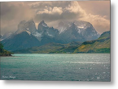 Metal Print featuring the photograph Los Cuernos  by Andrew Matwijec