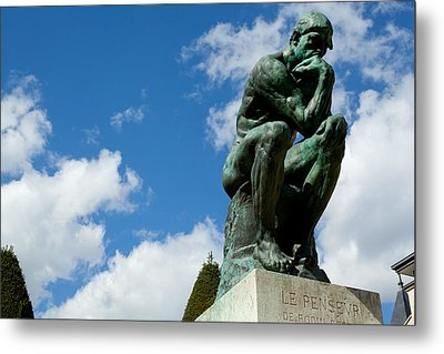 Low Angle View Of A Statue At Musee Metal Print
