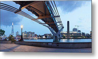 Low Angle View Of Millennium Bridge Metal Print by Panoramic Images