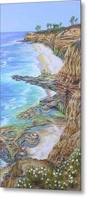 Low Tide Sunset Cliffs Metal Print