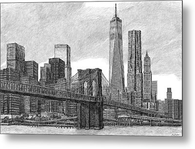 Lower Manhattan Skyline Metal Print