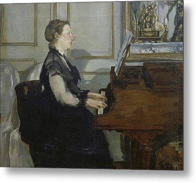 Madame Manet Metal Print by Edouard Manet