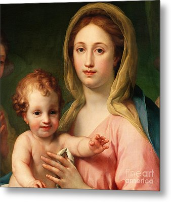 Madonna And Child Metal Print by Anton Raphael Mengs